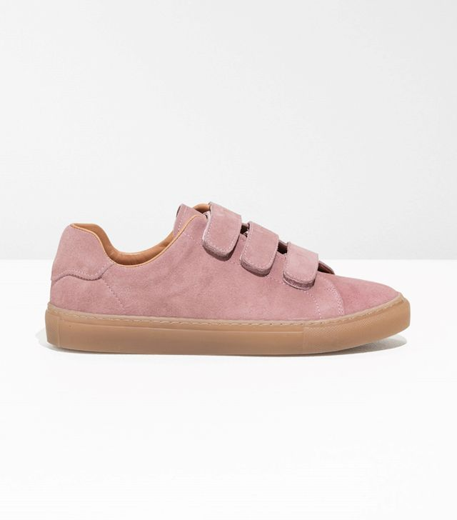 Scratch Strap Suede Sneaker