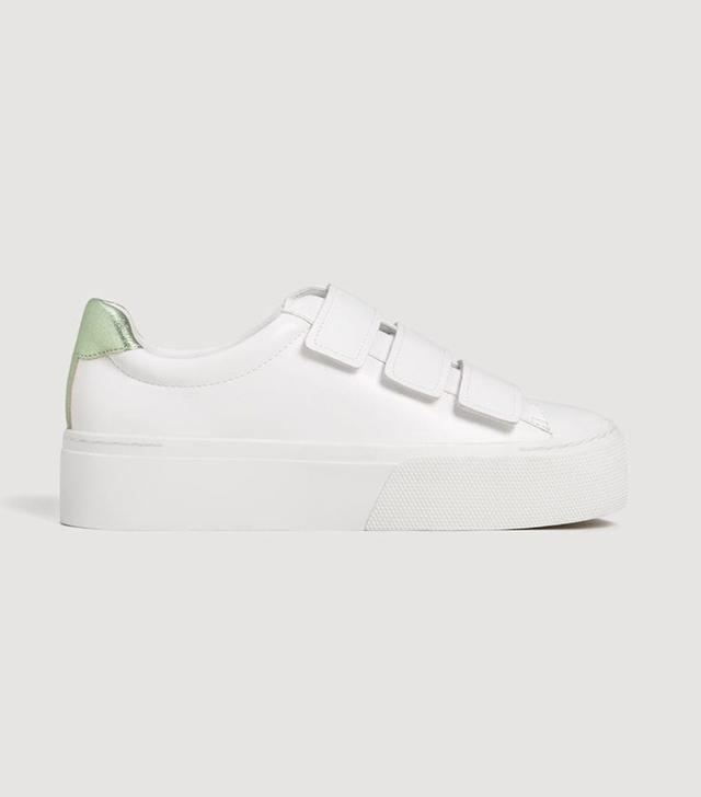 Platform velcro fastening sneakers