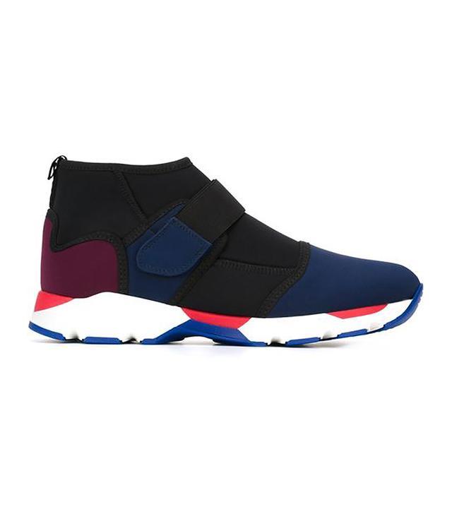 velcro fastening hi-top sneakers