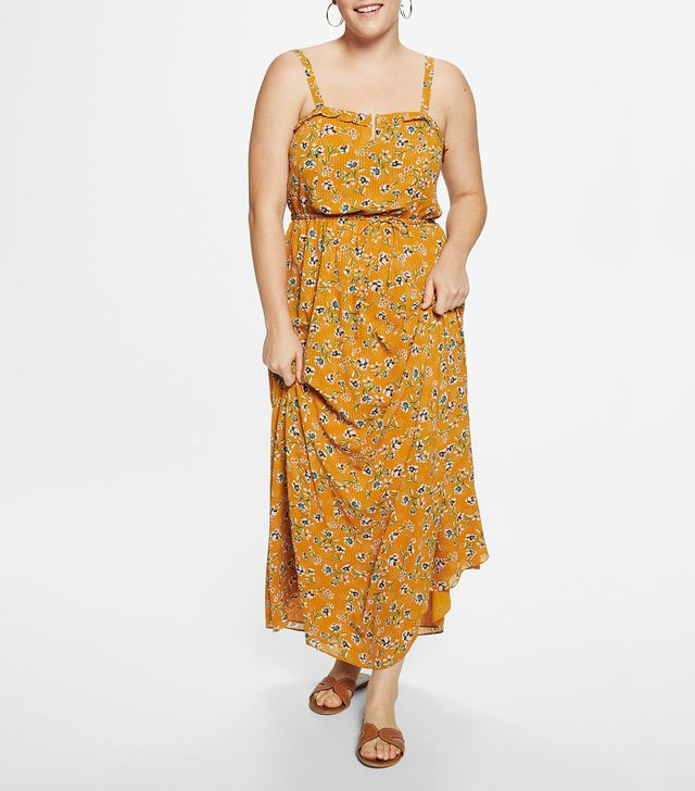 Violeta by Mango Floral Print Long Dress