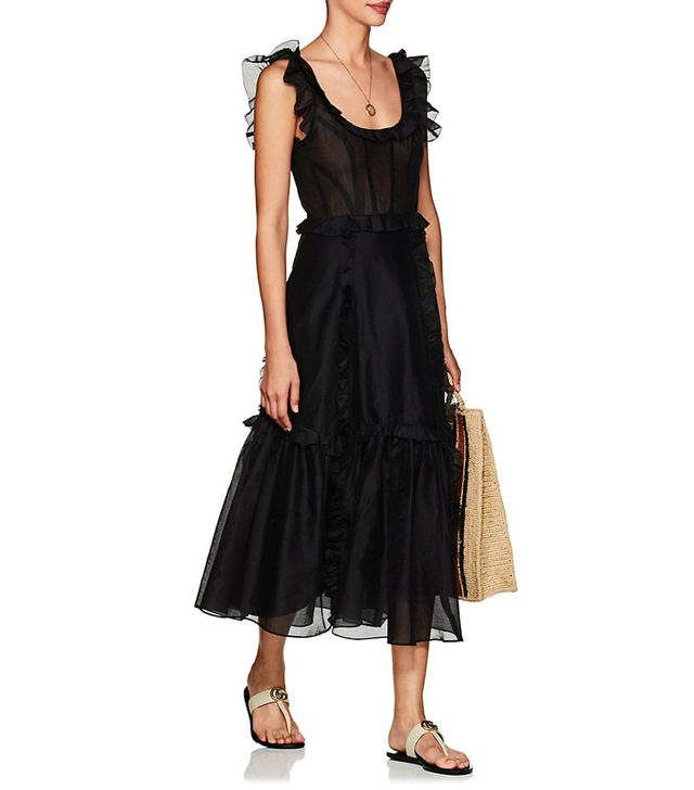Ulla Johnson Brigitte Cotton-Silk Corset Maxi Dress