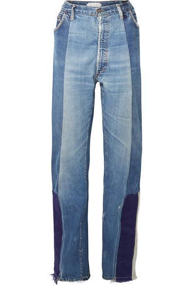 Selena Patchwork Boyfriend Jeans