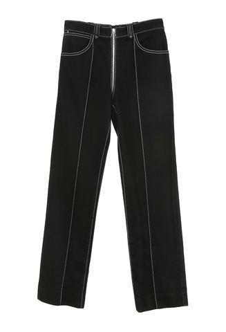 Lorod Zip Through Pant Black Denim