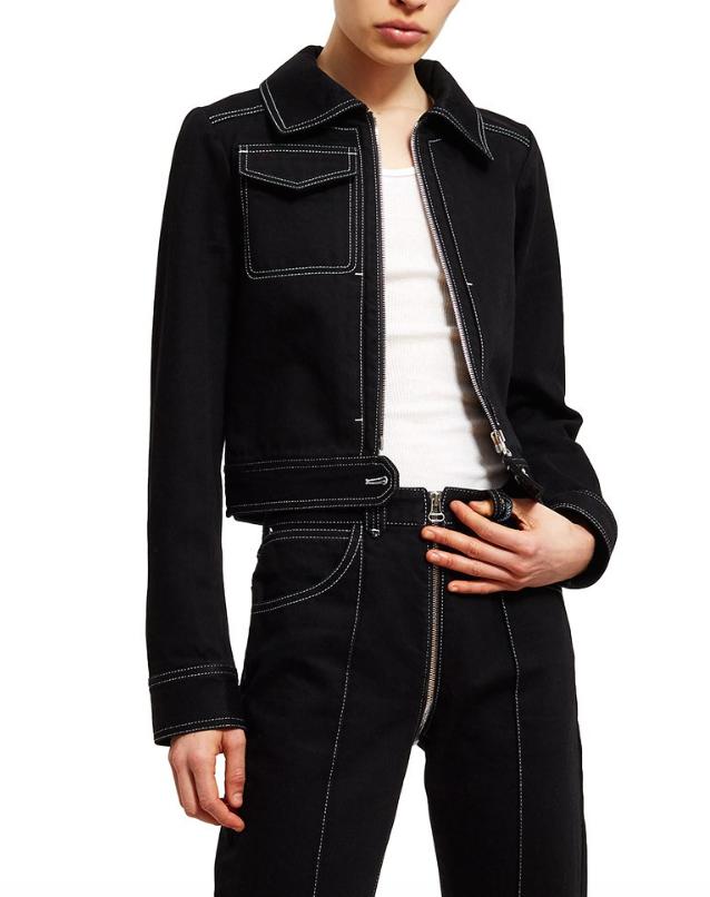 Lorod Cropped Zip-Up Jacket