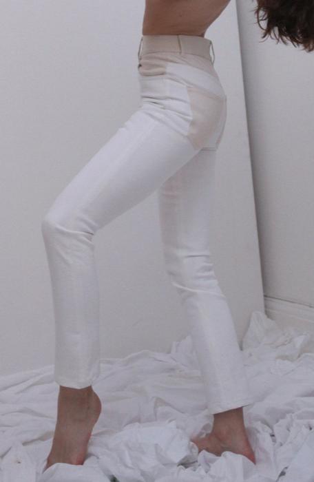 Wendelborn Combo Studio Jean in White/Natural