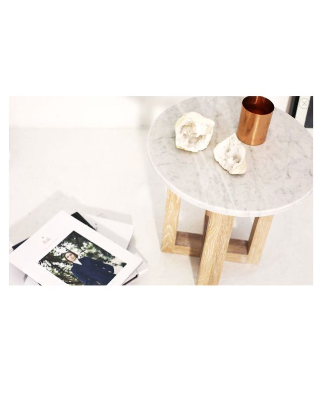 Totem Road Kara Round Marble Side Table