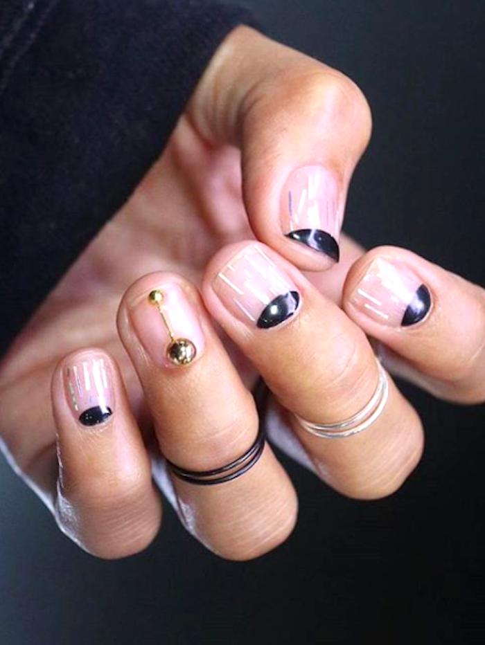18 Black-and-Gold Nails   Byrdie