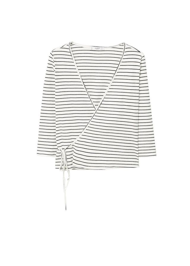 Textured wrapped t-shirt