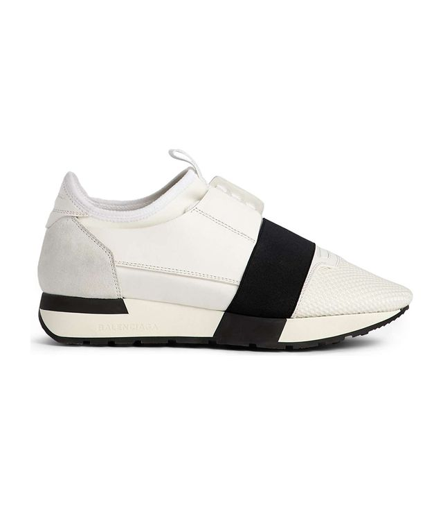 Mixed Media Trainer Sneaker