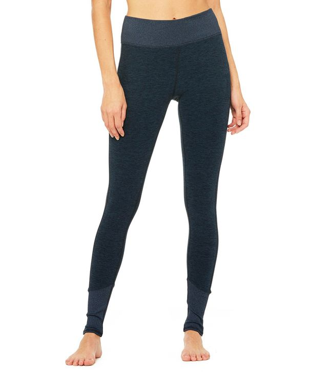 Alo High-Waist Lounge Leggings in Rich Navy Heather