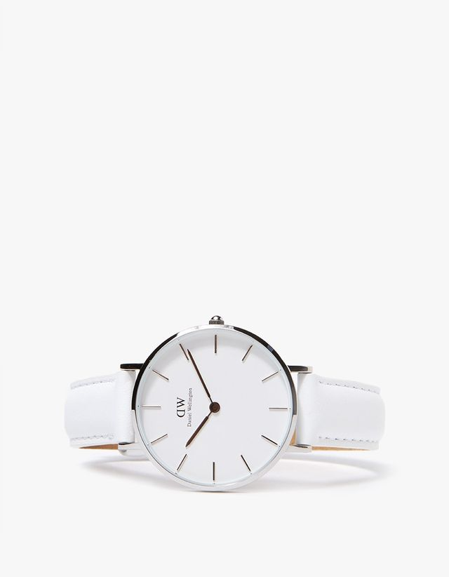 Daniel Wellington Classic Petite Bondi in 32mm Silver and White