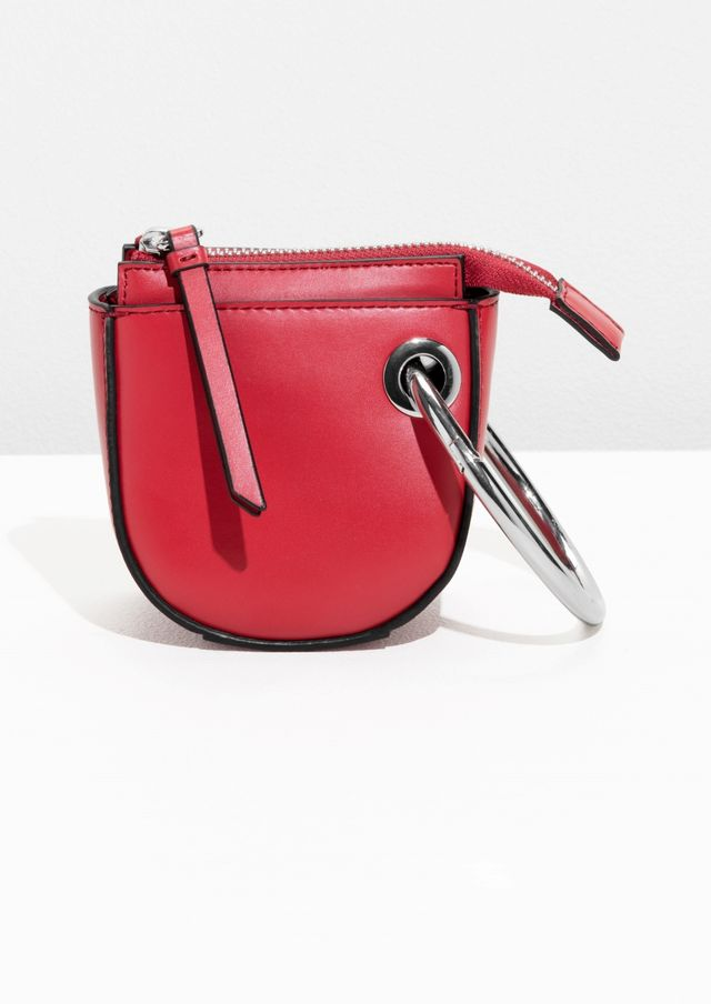 & Other Stories Leather Saddle Clutch