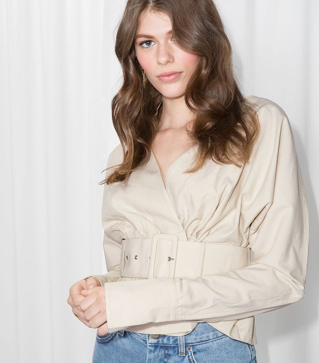& Other Stories Belted Blouse