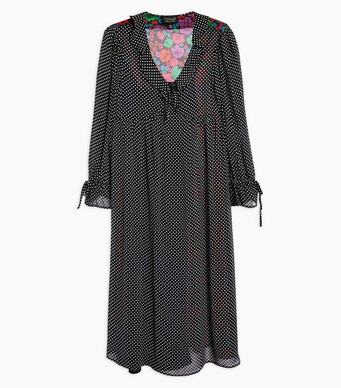 Topshop S Cult Polka Dot Dress Just Got Even Better Who
