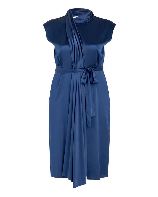 Tome Pleated Sash Dress