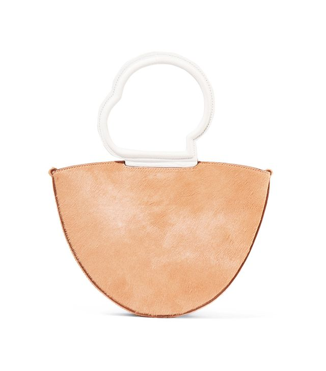 Danse Lente Lilou Calf Hair and Textured-Leather Tote