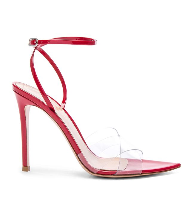 Gianvito Rossi Patent & Plexi Stark Ankle Strap Sandals