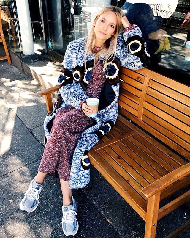 <p>There's nothing cosier than a long cardigan layered over a knit dress.</p>