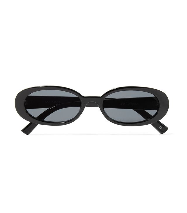 Outta Love Oval-frame Acetate Sunglasses
