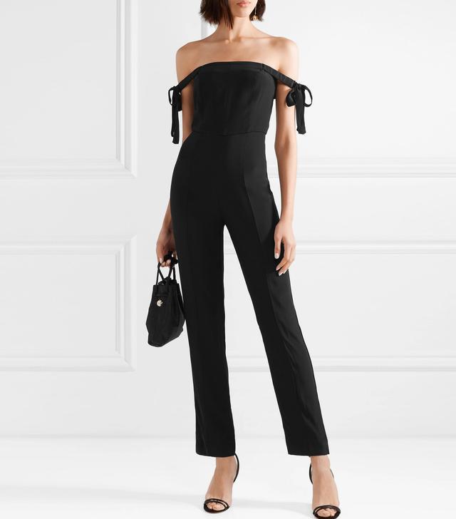 Rosa Off-the-shoulder Crepe Jumpsuit