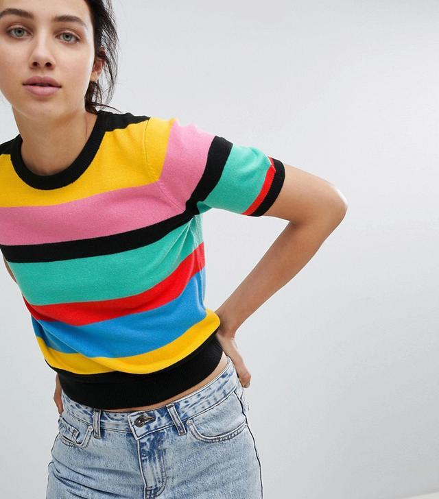Knit T-Shirt in Stripe