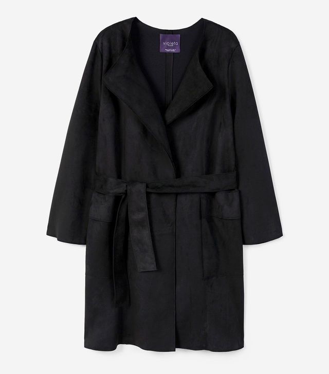 Violeta by Mango Suede Effect Trench