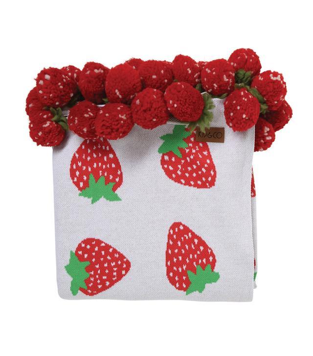 Kip&Co Berrylicious Pom Pom Blanket