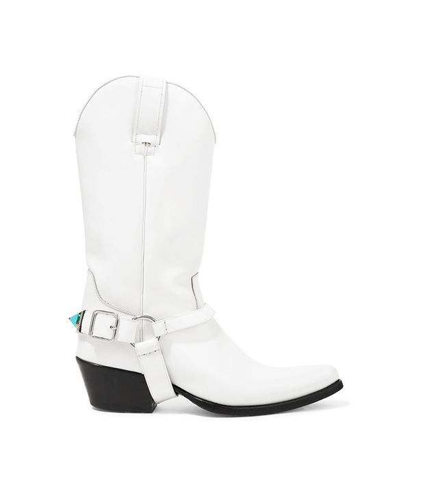 Tex Tammy Glossed-Leather Boots