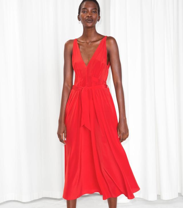 & Other Stories Silk Dress