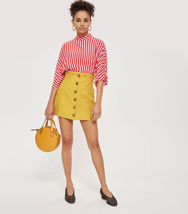 TALL Button Through Skirt