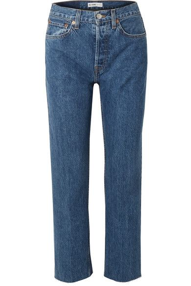High-rise Stove Pipe Straight-leg Jeans