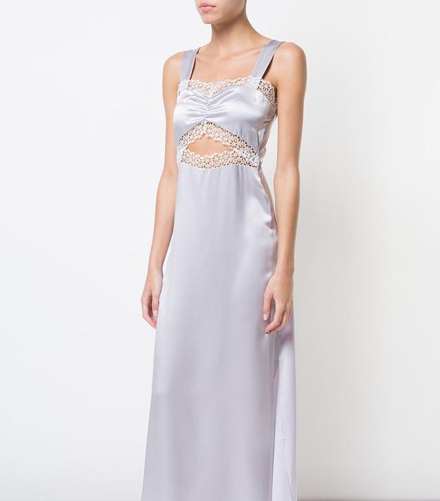 lace detail Joana nightgown