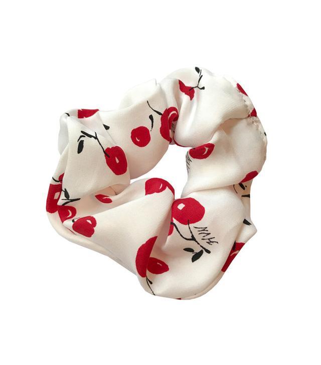 HVN Cherry Silk Scrunchie