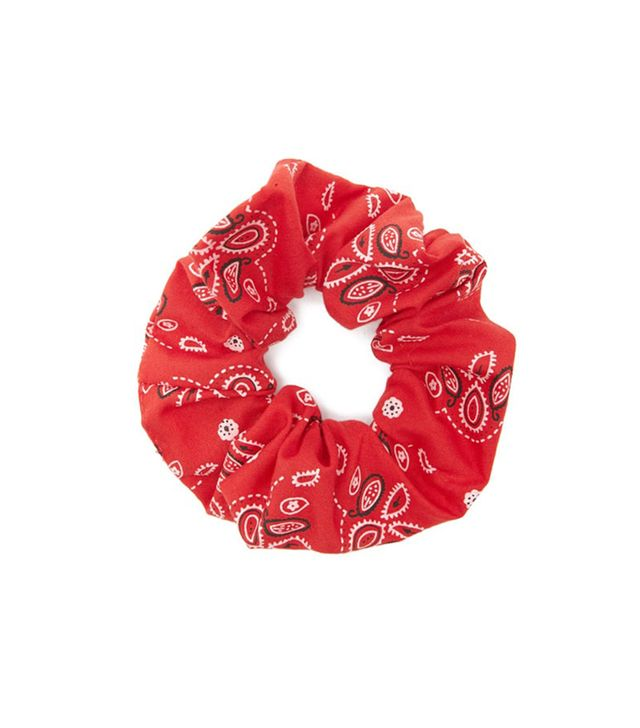 Bandana Print Hair Scrunchie