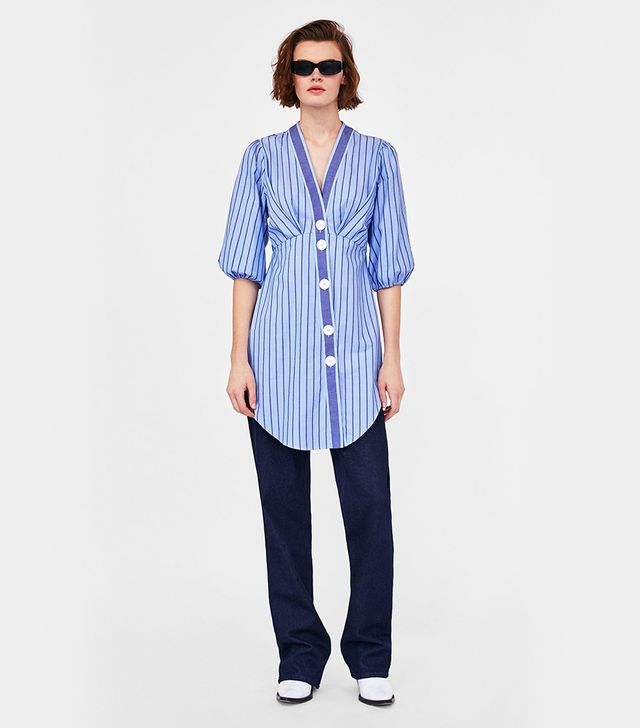 Zara Contrasting Striped Tunic