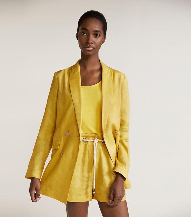Mango Linen Blazer
