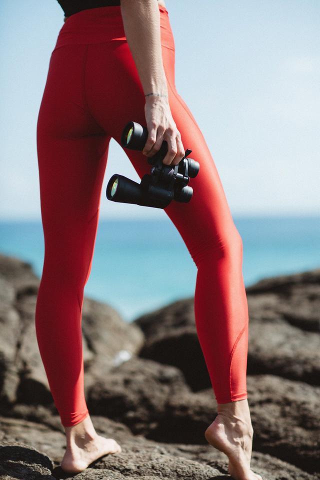 Salt Gypsy Libby High Waist Legging in Poppy Red