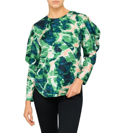 Bianca Spender Water Print Silk Sovereign Top