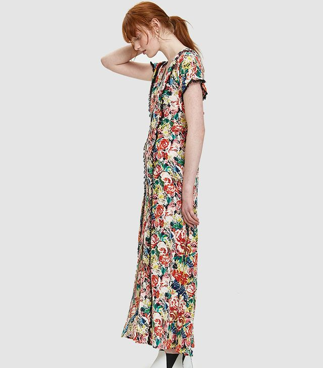 Maple Silk Maxi Dress in Multi
