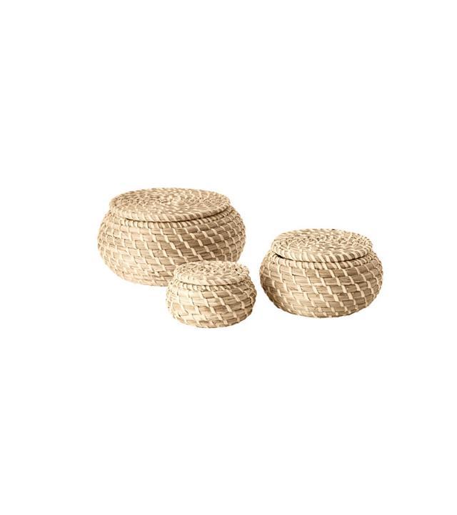 IKEA Frykken Basket With Lid, Set of 3