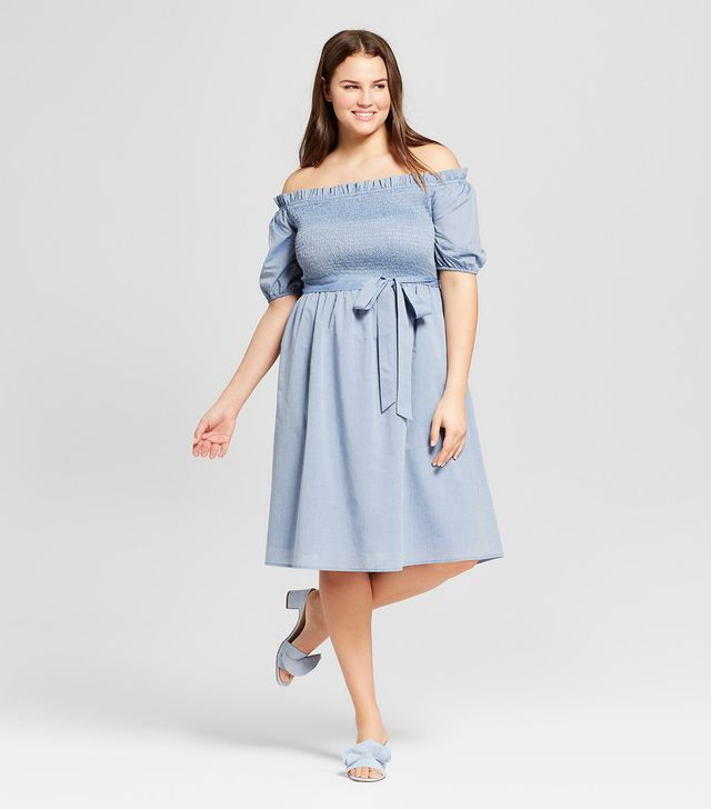 Who What Wear x Target Short Sleeve Smocked Dress