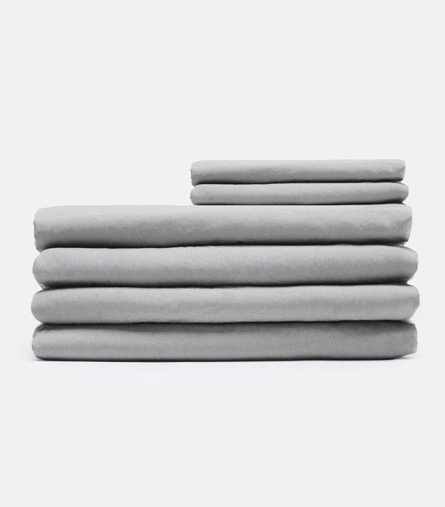 Tenfold New York Washed Percale Full/Queen Flat Sheet