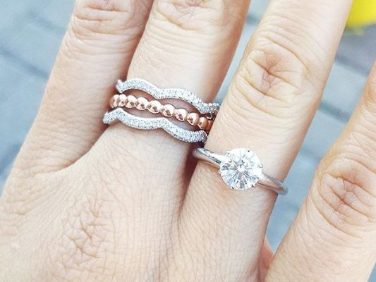 how to wear a diamond ring
