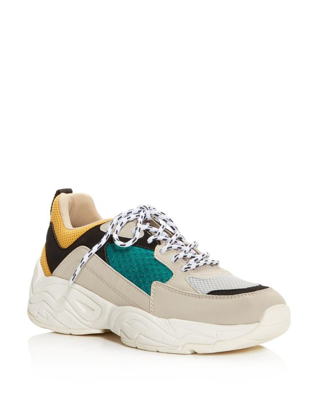KENDALL + KYLIE Focus Round-Toe Lace Up Platform Dad Sneakers