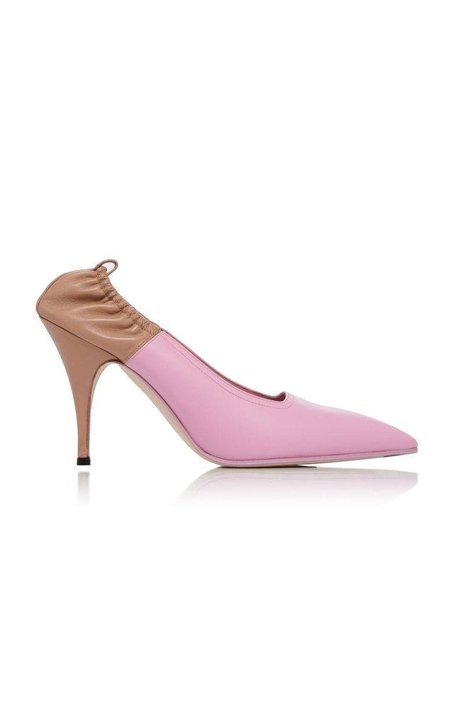 Victoria Beckham Dorothy Two-Tone Leather Pumps