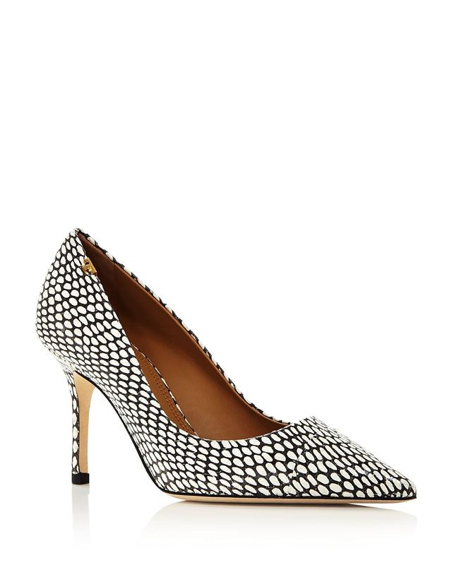 Tory Burch Penelope Pointed Toe Leather Pumps