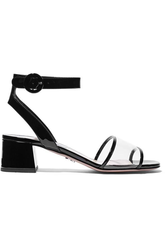 Prada Patent-Leather And PVC Sandals