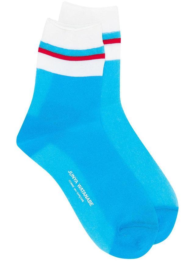 Junya Watanabe Stripe Detail Sheer Socks