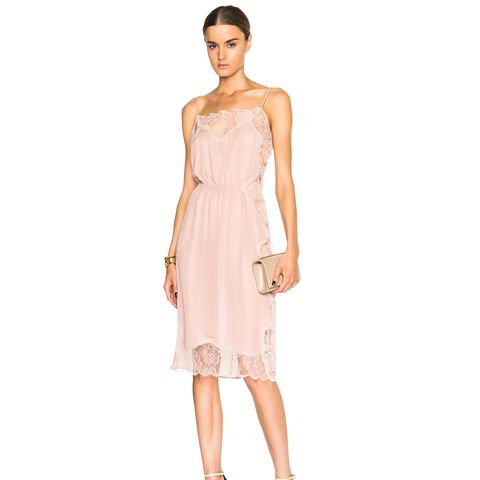 Rose Lace Applique Slip Dress