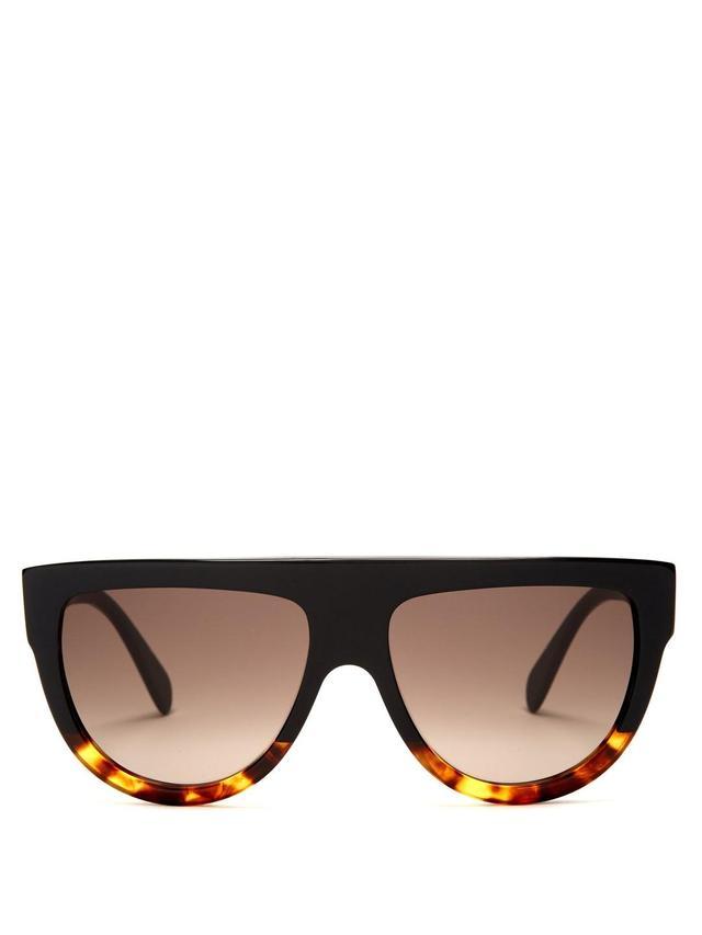 Aviator D-Frame Acetate Sunglasses